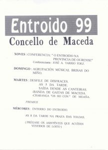 Cartel Entroido Maceda 1999
