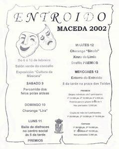 Cartel Entroido Maceda 2002
